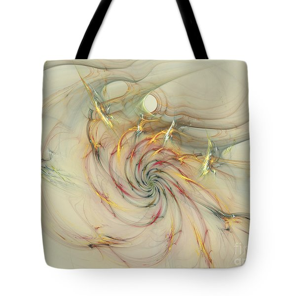 Marble Spiral Colors Tote Bag