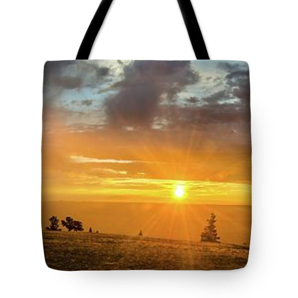 Marble View Sunrays Tote Bag