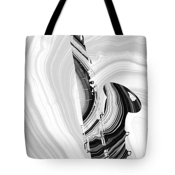 Marbled Music Art - Saxophone - Sharon Cummings Tote Bag