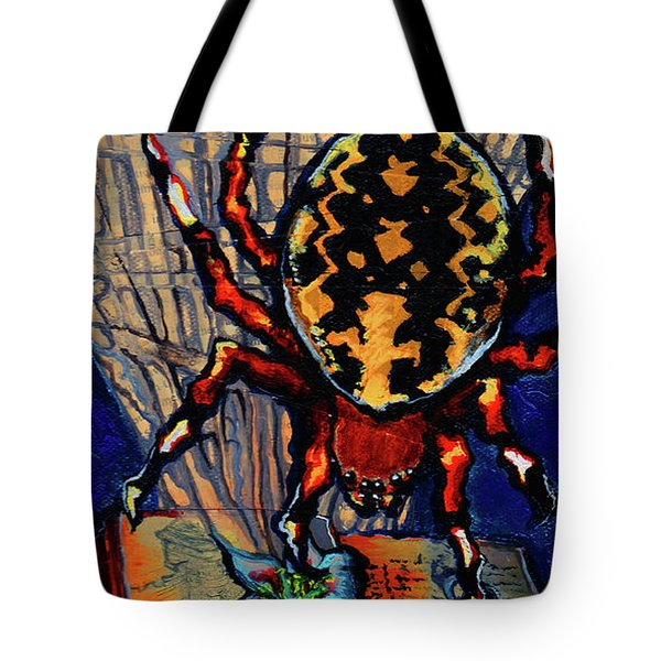 Marbled Orbweaver Tote Bag by Emily McLaughlin