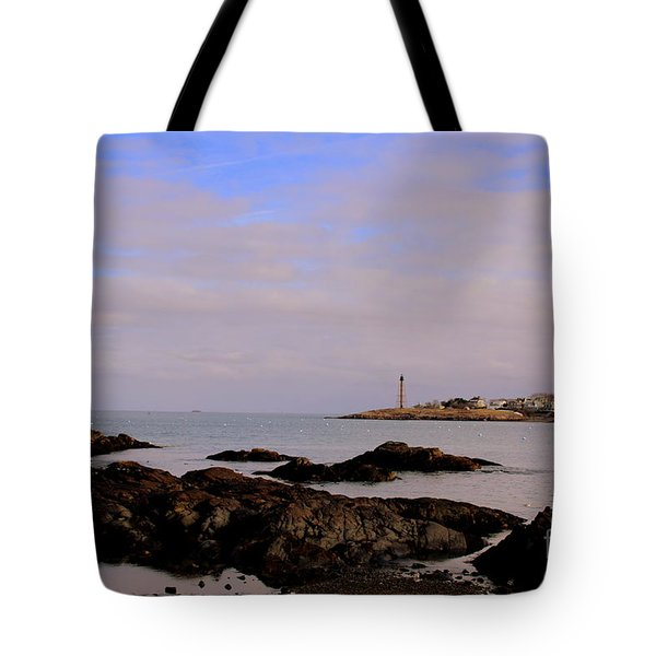 Marblehead Harbor And Light Tote Bag