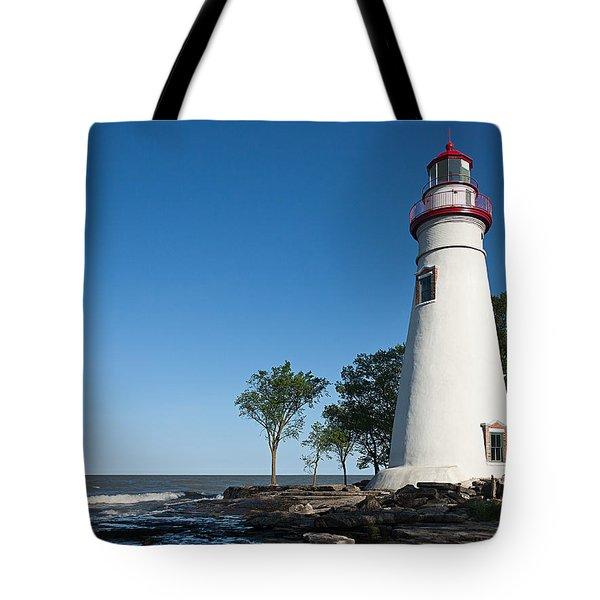 Marblehead Lighthouse Tote Bag by Dale Kincaid