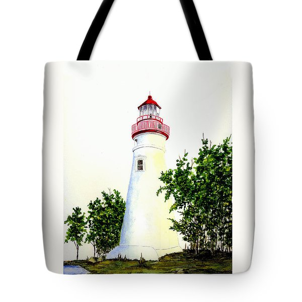 Marblehead Lighthouse Tote Bag by Michael Vigliotti