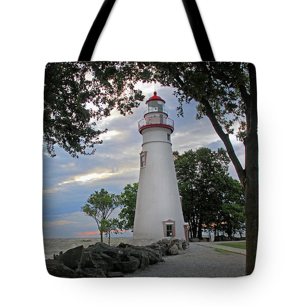 Tote Bag featuring the photograph Marblehead Ohio by Angela Murdock