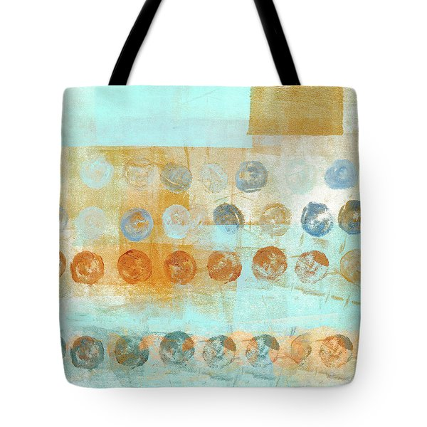 Tote Bag featuring the mixed media Marbles Found Number 2 by Carol Leigh