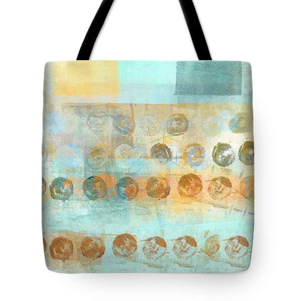 Tote Bag featuring the mixed media Marbles Found Number 3 by Carol Leigh
