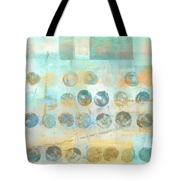 Tote Bag featuring the mixed media Marbles Found Number 4 by Carol Leigh