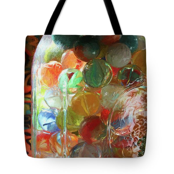 Marbles In A Jar 2 Painterly Tote Bag
