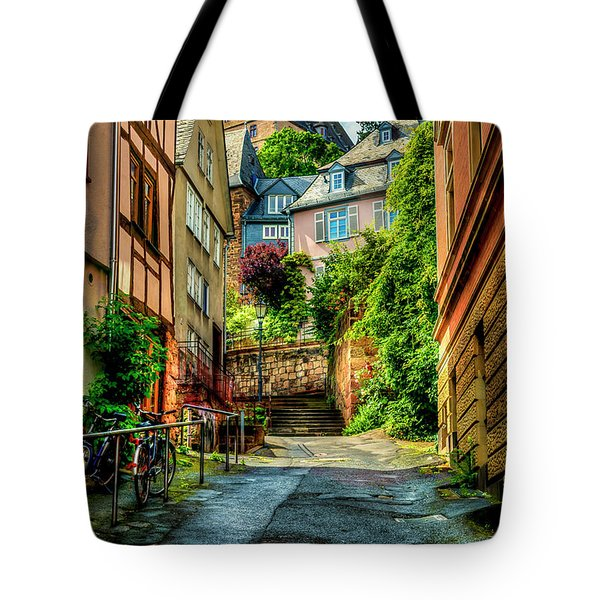 Tote Bag featuring the photograph Marburg Alley by David Morefield
