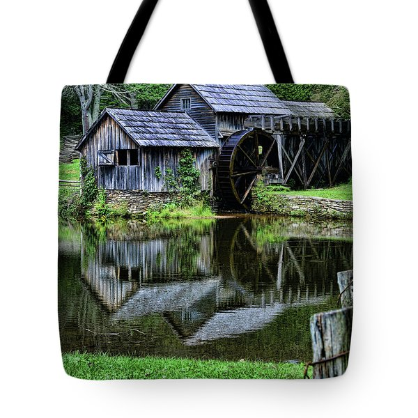 Tote Bag featuring the photograph Marby Mill Reflection by Paul Ward