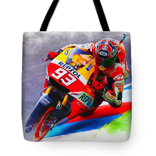 Marc Marquez Get Up Close Tote Bag