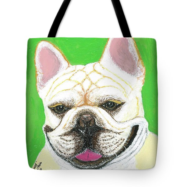 Tote Bag featuring the painting Marcel French Bulldog by Ania M Milo