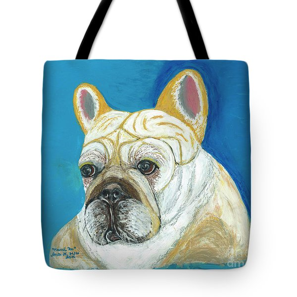 Tote Bag featuring the painting Marcel II French Bulldog by Ania M Milo