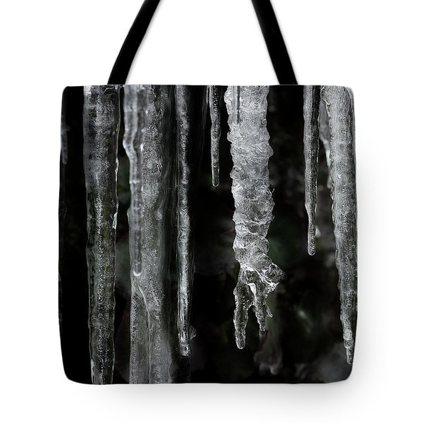 Tote Bag featuring the photograph March Icicles by Mike Eingle