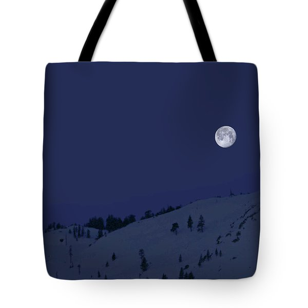 Tote Bag featuring the photograph March Moon With Jupiter by Donna Kennedy