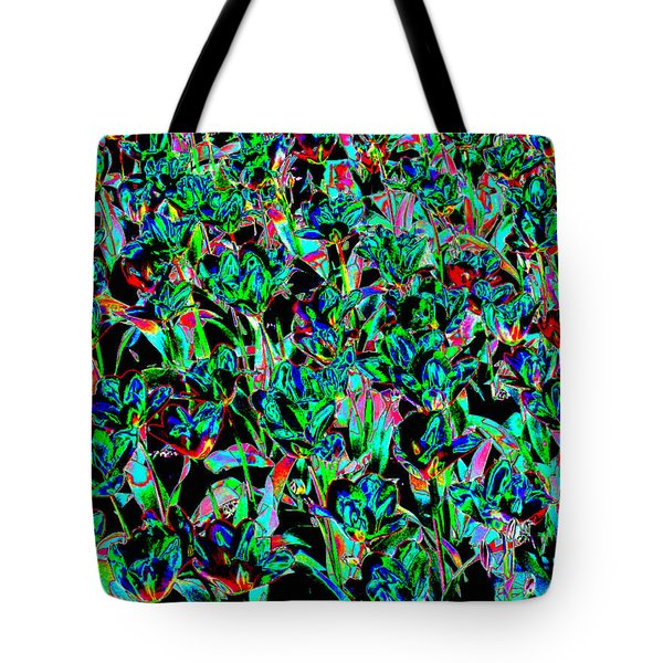 March Of The Flowers Tote Bag by Rodger Insh