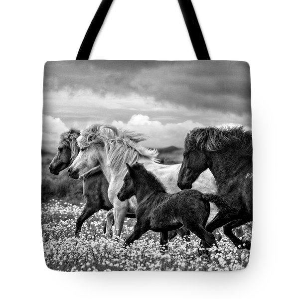March Of The Mares Tote Bag