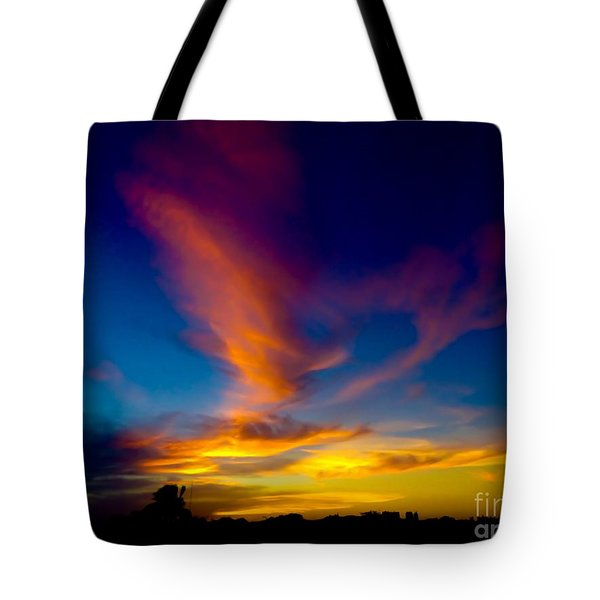 Sunset March 31, 2018 Tote Bag