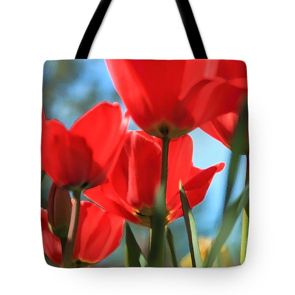 March Tulips Tote Bag by Jeanette French