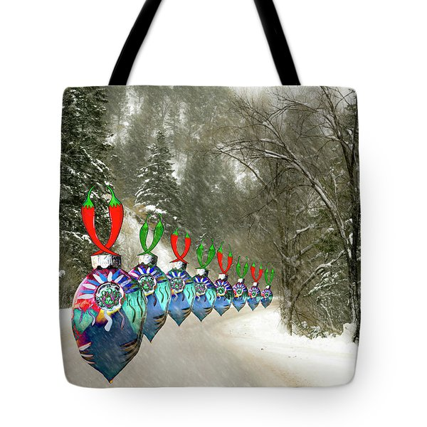 Marching Ornaments Chili Peppers Tote Bag