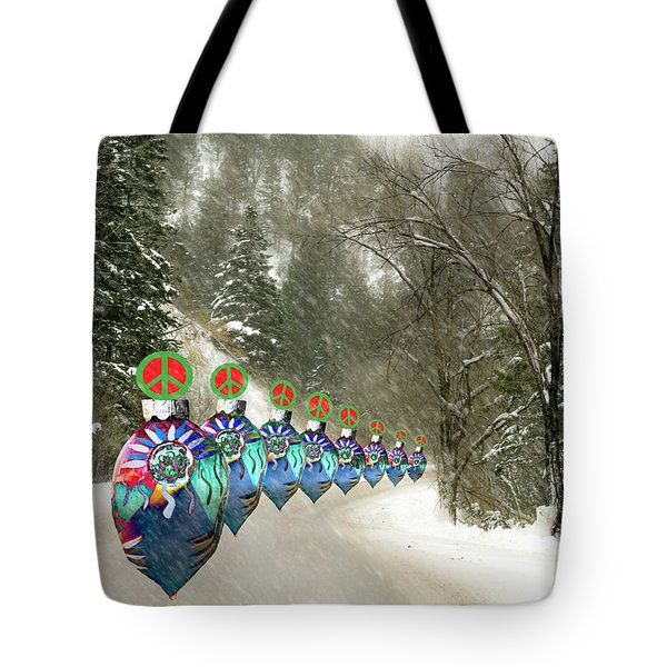 Marching Peace Ornaments Tote Bag