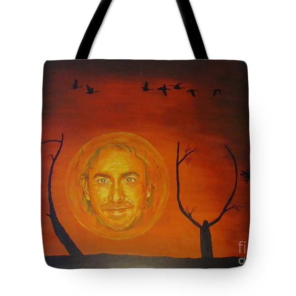 Tote Bag featuring the painting Marco Borsato by Jeepee Aero