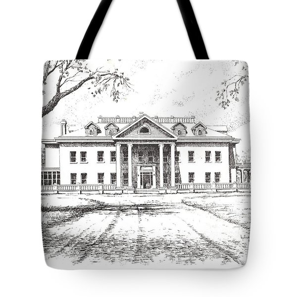 Marcus Daly Mansion Hamilton Montana Tote Bag by Kevin Heaney