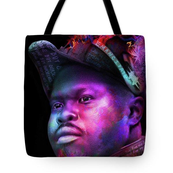 Marcus Garvey Portrait Tote Bag