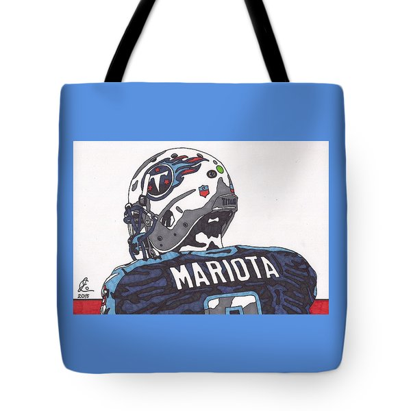 Marcus Mariota Titans 2 Tote Bag by Jeremiah Colley