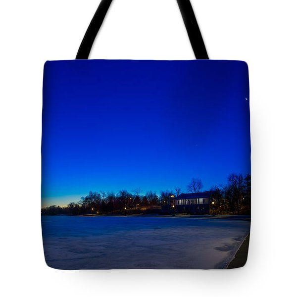 Marcy Casino Winter Twilight Tote Bag by Chris Bordeleau