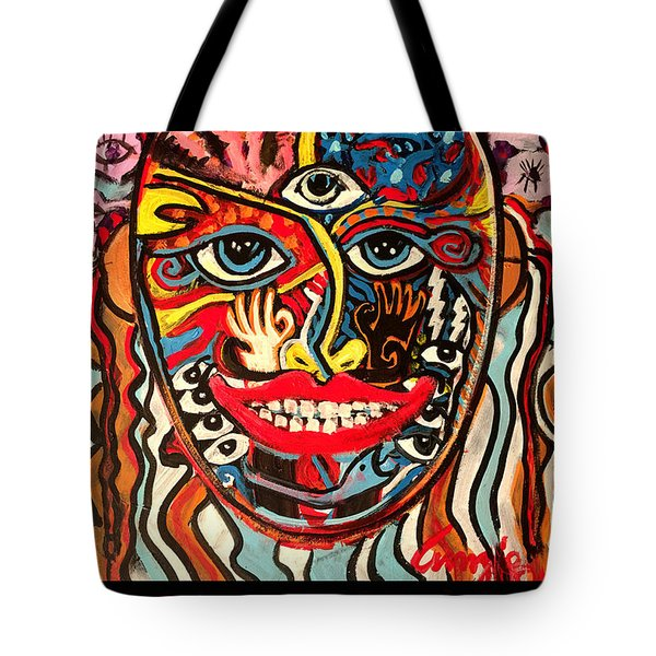 Tote Bag featuring the painting Mardi Gras 2018 by Amzie Adams