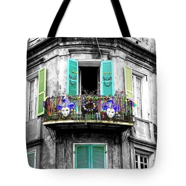 Mardi Gras Balcony Fusion Tote Bag