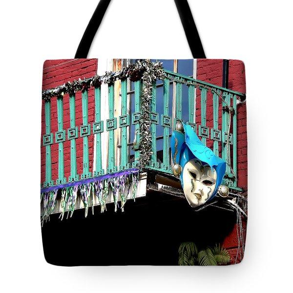 Mardi Gras Balcony Tote Bag