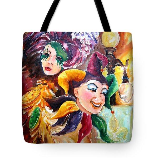 Mardi Gras Images Tote Bag by Diane Millsap