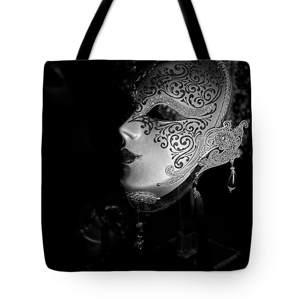 Mardi Gras Mask  B-w Tote Bag by Christopher Holmes