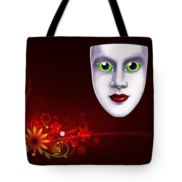 Mardi Gras Mask Red Vines Tote Bag