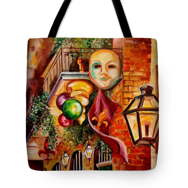Mardi Gras Night Tote Bag by Diane Millsap