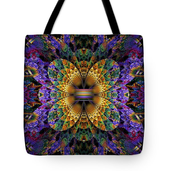 Mardi Gras Split Crop Tote Bag