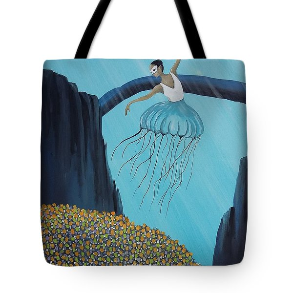 Tote Bag featuring the painting Mare Ballerina by Edwin Alverio
