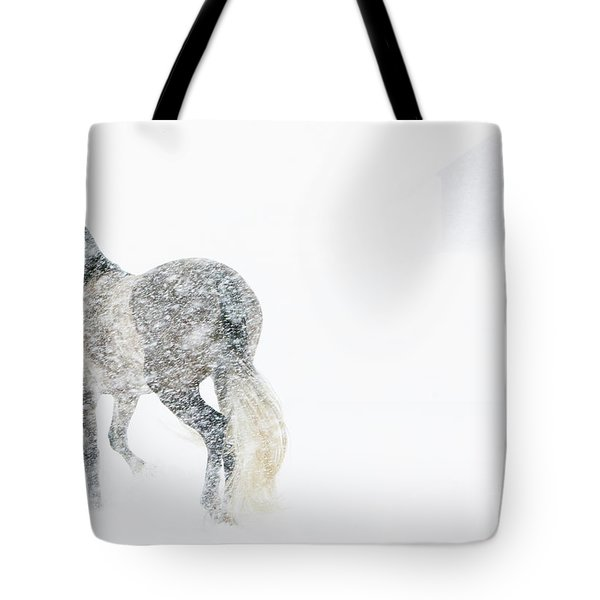 Mare In A Blizzard II Tote Bag by Carol Walker