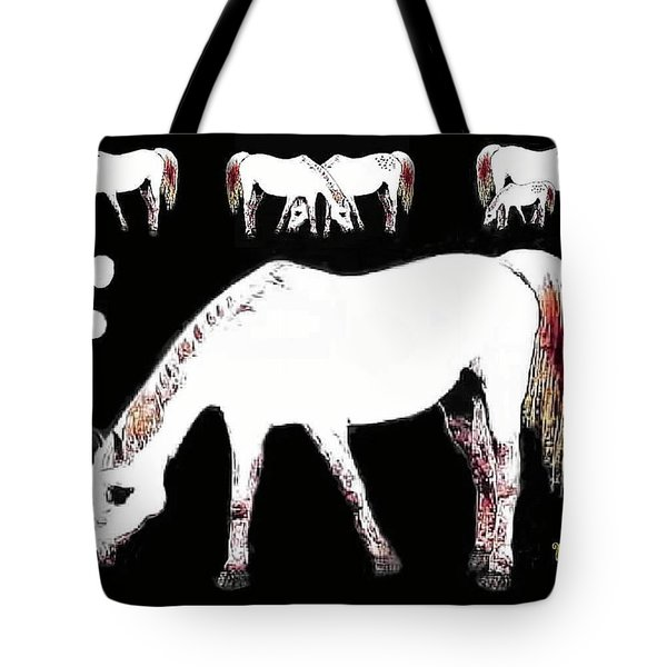 Tote Bag featuring the photograph Mares Tale by Sadie Reneau