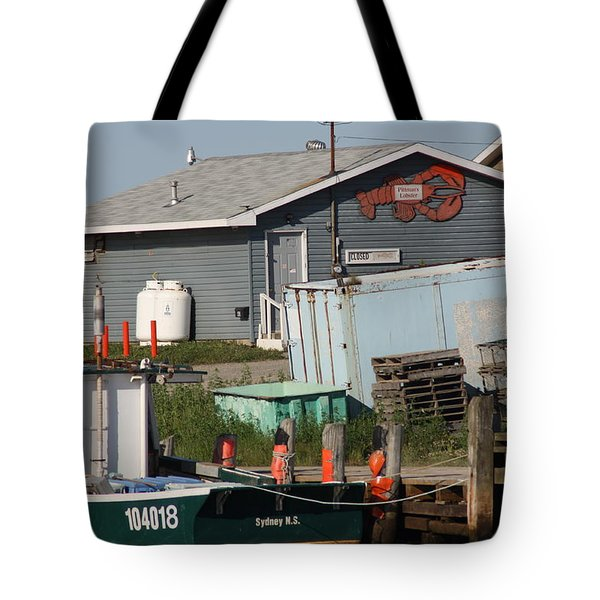 Tote Bag featuring the photograph Margaree Harbor by Robin Regan