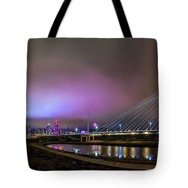 Margaret Hunt Hill Bridge - Dallas Texas Tote Bag by Micah Goff