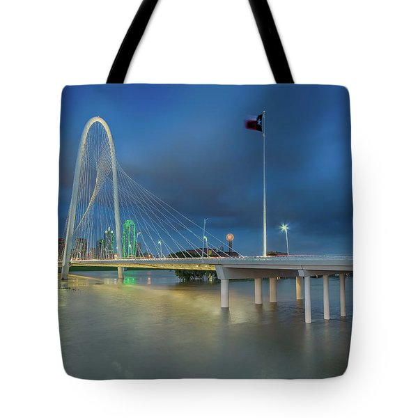 Tote Bag featuring the photograph Margaret Hunt Hill Bridge Dallas Texas by Robert Bellomy
