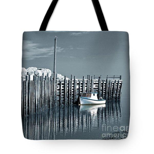 Margaretsville Wharf  Tote Bag