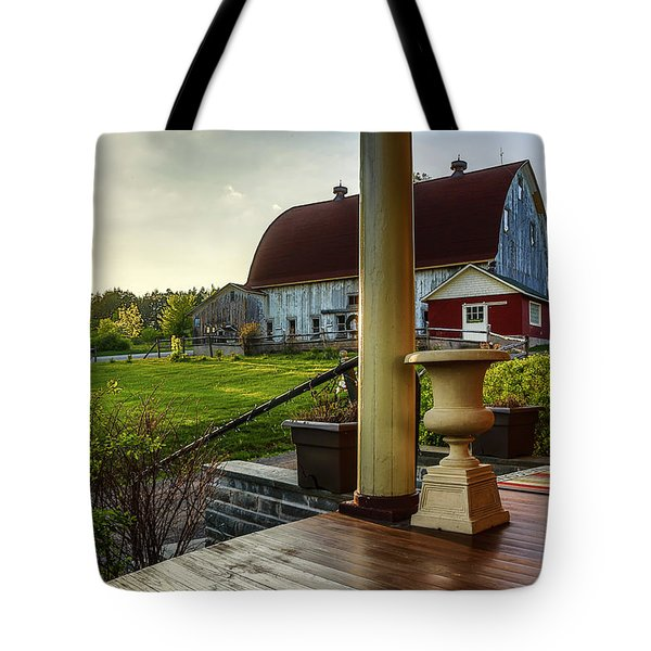 Tote Bag featuring the photograph Margaretville Mountain Inn by Paula Porterfield-Izzo