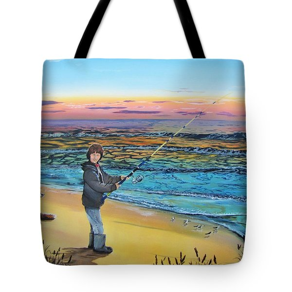 Tote Bag featuring the painting Maria Mae by Kevin F Heuman