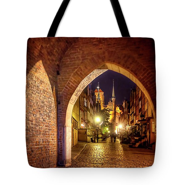 Tote Bag featuring the photograph Mariacka By Night  by Carol Japp