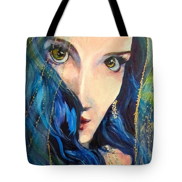 Mariah Blue Tote Bag