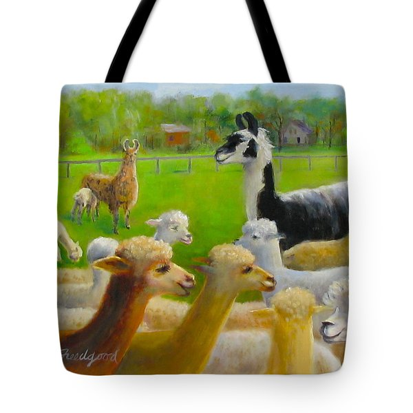 Tote Bag featuring the painting Mariah Guards The Herd by Oz Freedgood